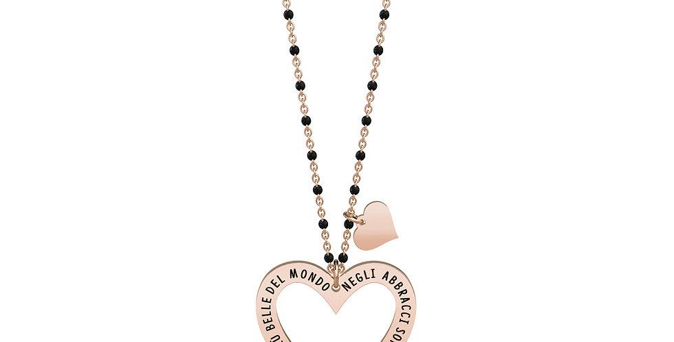 KIDULT collana  751014 LOVE cuore - abbracci