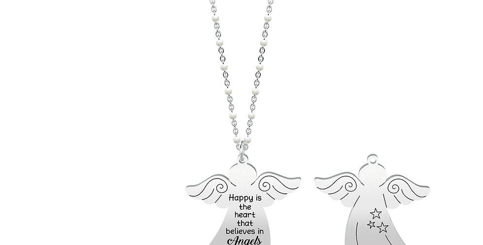 "KIDULT collana ""spirituality"" 751002  ANGELO - HAPPINESS"