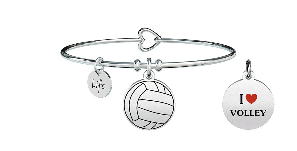 "KIDULT  bracciale"" FreeTime""731293 I LOVE VOLLEY"