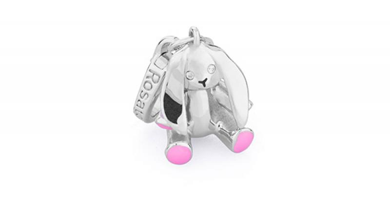 ROSATO Charm Coniglio Rosa My Baby BB010
