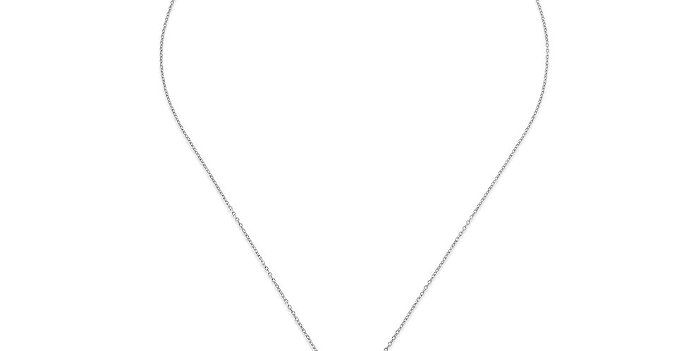 KURSHUNI collana sole KR923-2 argento e zirconi vita ed energia