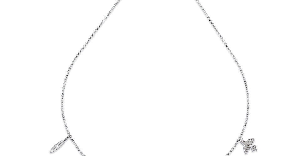 KURSHUNI collana argento con pendenti KX180-2