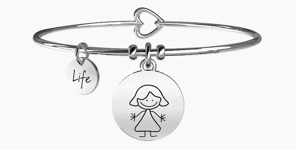 "KIDULT bracciale ""family"" 231564 MAMMA ""MUM"" home is where mum is"