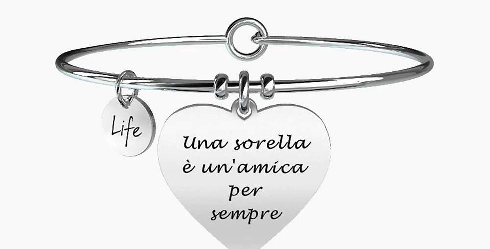 """KIDULT bracciale """"family"""" 731093 UNA SORELLA E' UN'AMICA PER SEMPRE"""