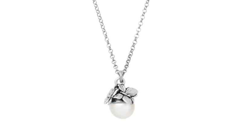 RASPINI Drops Collana Farfalle in argento925 e perla naturale cod 11108