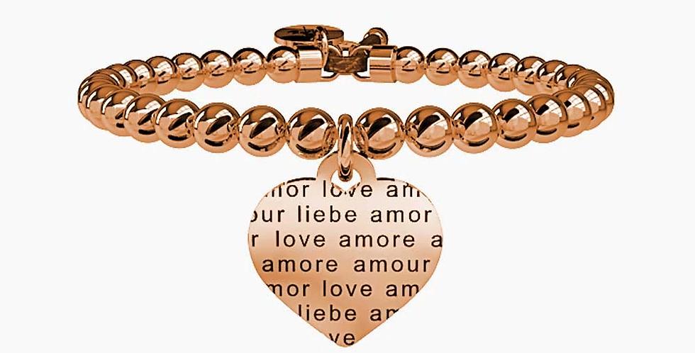 KIDULT bracciale rosè 731052 LOVE cuore-amore senza confini