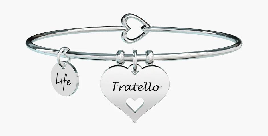 """KIDULT bracciale """"family""""731618 fratello-cuore"""