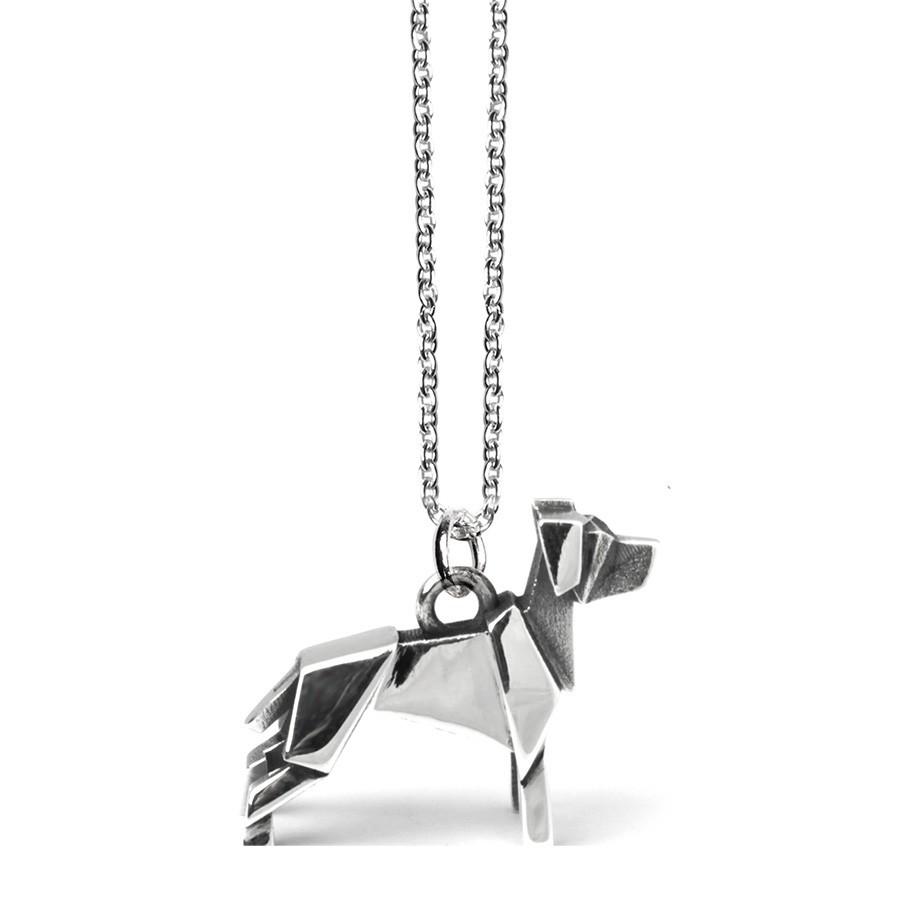 Dog Fever Sterling Silver Labrador Origami Pendant.jpg