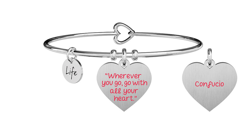 "KIDULT bracciale Wherever you go, go with all your heart."" - Confucio -731695"