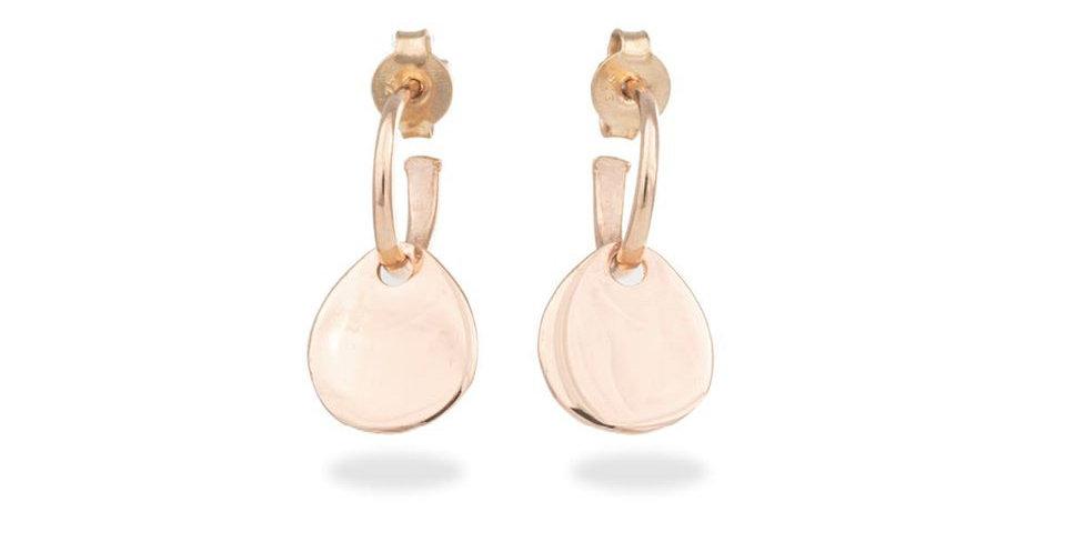 CUORI E FRECCE orecchini con pendente a gocciaoro  rosa 9 carati