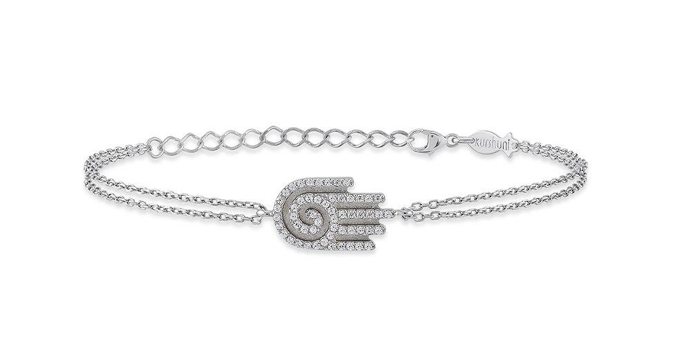 KURSHUNI bracciale argento  kr913-1  mano-guarigione