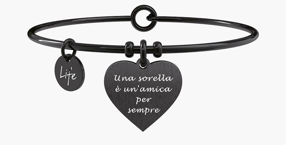 """KIDULT bracciale """"family"""" 731705 UNA SORELLA E' UN'AMICA PER SEMPRE"""