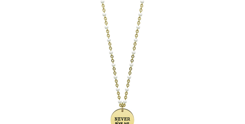 "KIDULT collana ""philosophy""751098 never give up"