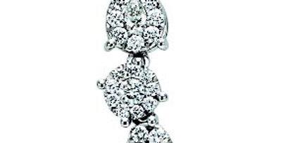 Copia di RECARLO Girocollo oro bianco 18 kt XE 186/b e diamanti BISANZIO