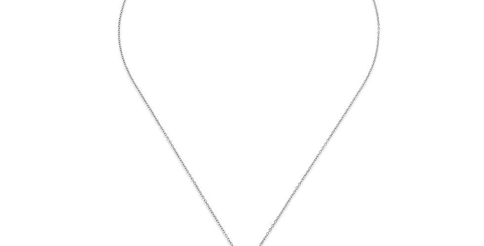 KURSHUNIgirocollo argento e zirconi KX175-3 acchiappasogni-protezione