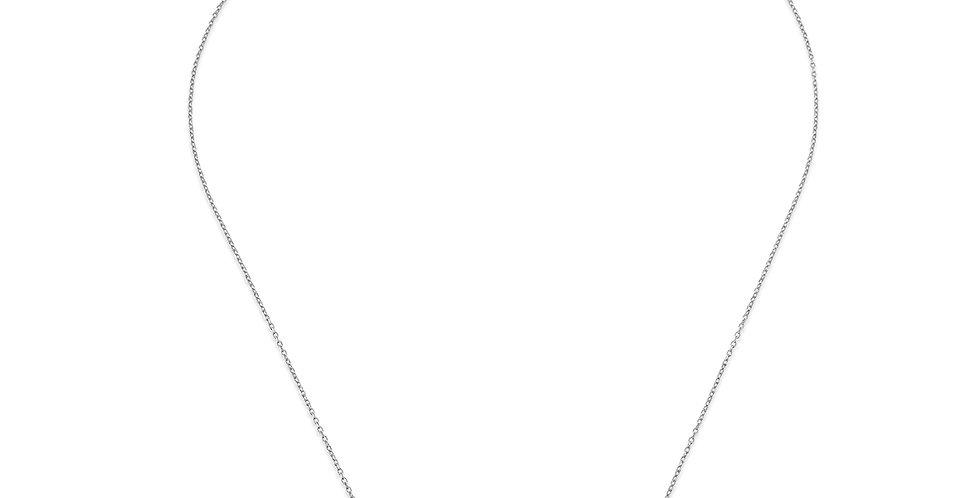 KURSHUNI collana freccia -realizzazione KR917-2 argento e zirconi