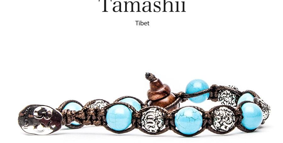 TAMASHII  bracciale Ruota della preghiera Turchese