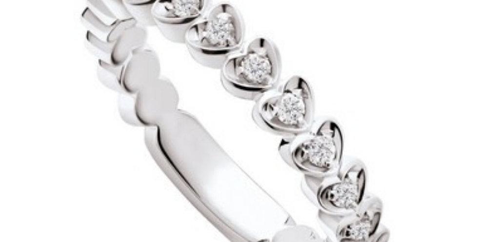 """POLELLO Anello """" Circondami d'amore """"in oro bianco e diamanti ref. g308"""