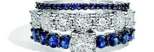 RECARLO Anello in oro 18 kt, zaffiri e diamanti XF 053/BZ