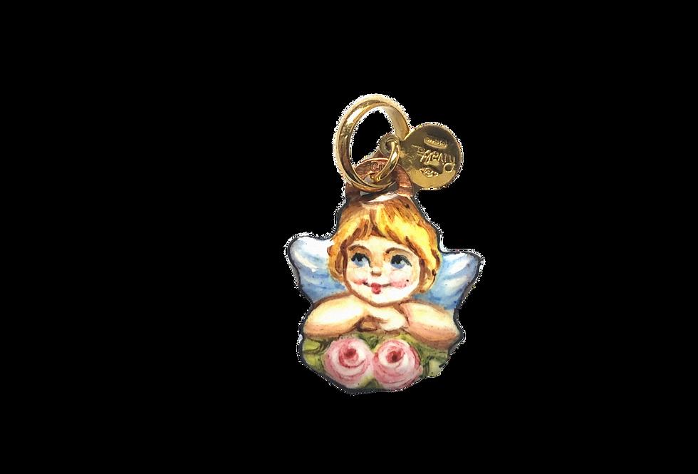 RIVALTA Ciondolo Angioletto con fiori – Collezione Mini Preziosi