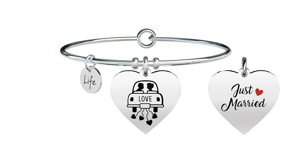 KIDULT bracciale  Special Moments 731297 cuore-just married
