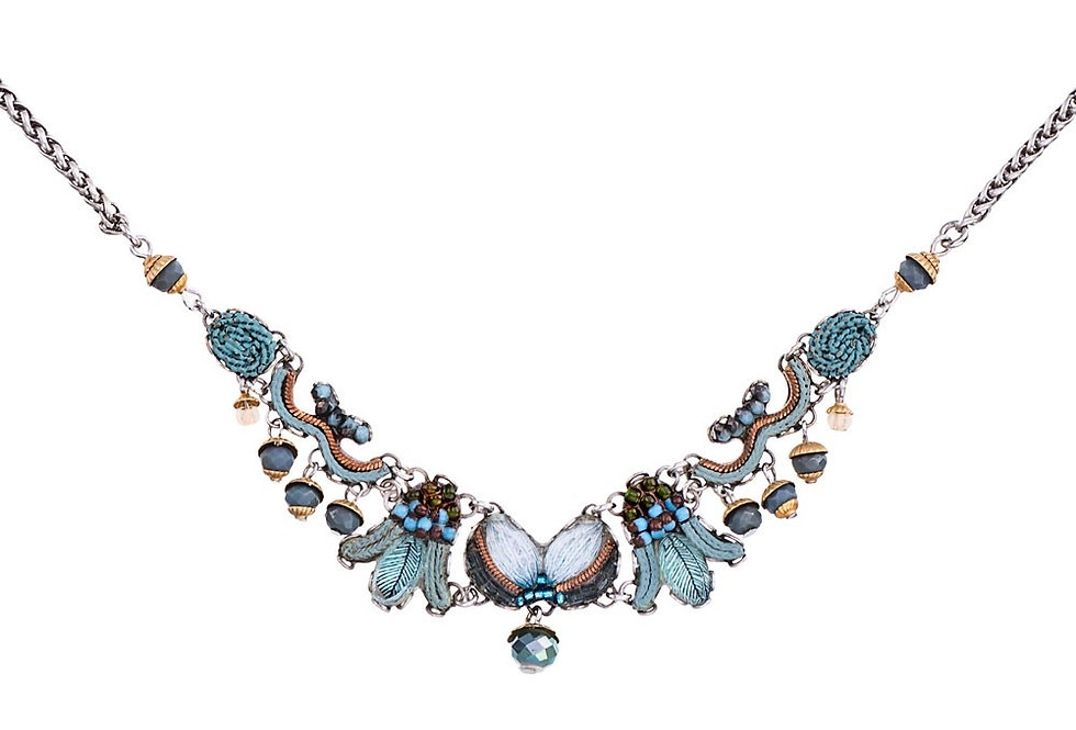 Collana  necklace AYALA BAR classic collection  BLUE VELVET c3195