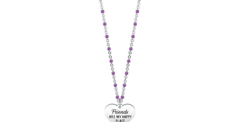 """KIDULT collana  751076 LOVE amicizia  CUORE-FRIENDS"""" Friends are my hap"""