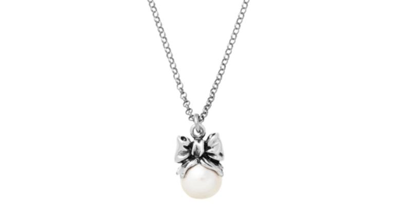 RASPINI Drops Collana Fiocco in argento925 e perla naturale cod 11110