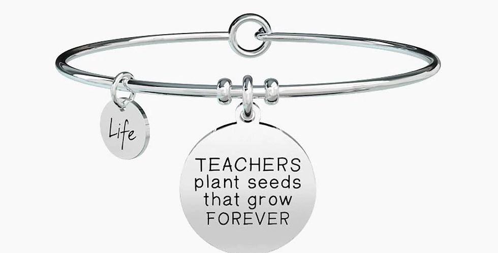 "KIDULT bracciale maestre 731299 ""teachers plant seeds that grow forever"""