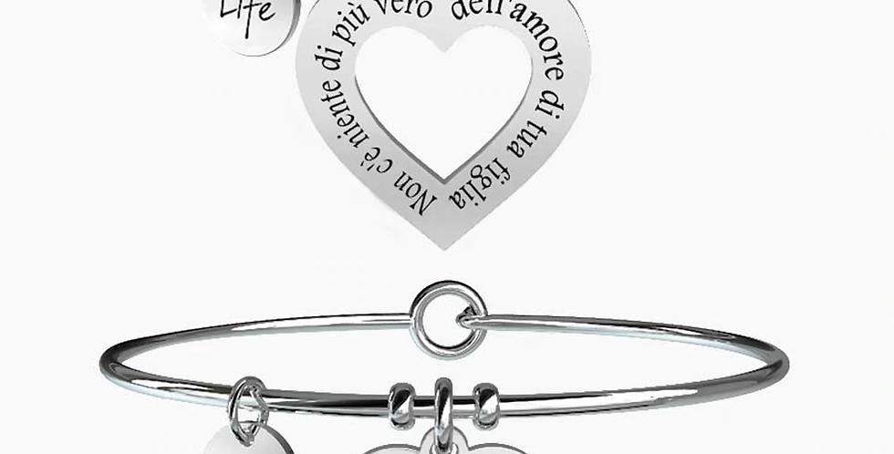 """KIDULT bracciali """"family""""731098 mamma-figlia  vero amore"""