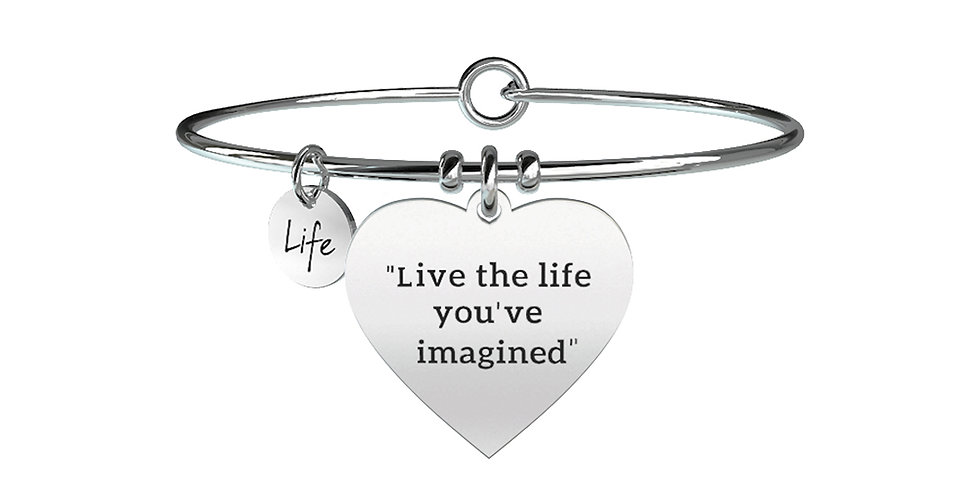 "KIDULT  bracciale ""Live the life you've imagined"". - H. D. Thoreau -731253"