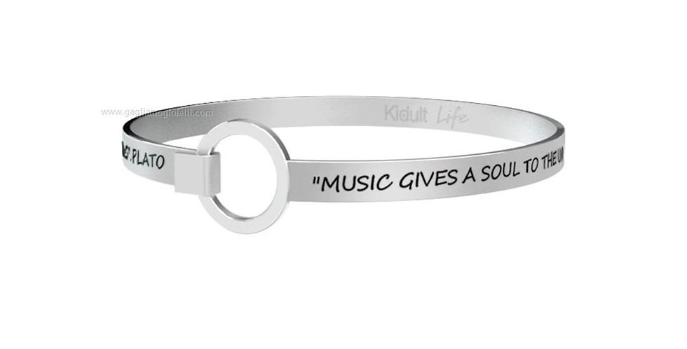 KIDULT bracciale  Free Time 731250  music gives a soul to the universe ....