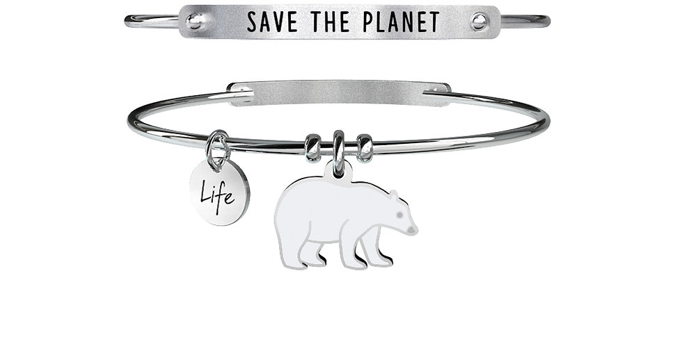 KIDULT bracciale ANIMAL PLANET 731370 orso polare-save the planet