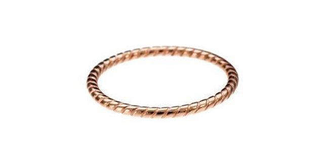 CUORI E FRECCE anello a treccia sottile oro 9ct GATR1