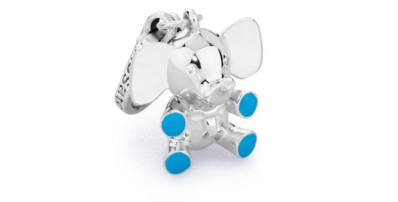 ROSATO Charm Elefante Turchese in Argento Collezione My Bebè – BB005