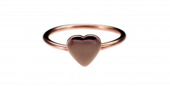 CUORI E FRECCE anello oro 9ct con CUORE personalizzabile