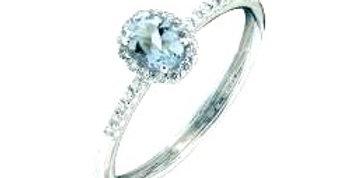 RECARLO Anello Acquamarina Modello IRIS Diamanti Naturali Oro 18kt XE251/BAQ