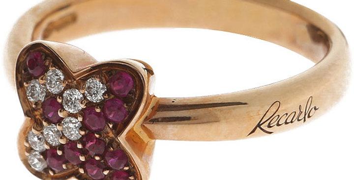 RECARLO Anello Giopaoli con diamanti e rubini XD 067/RRB