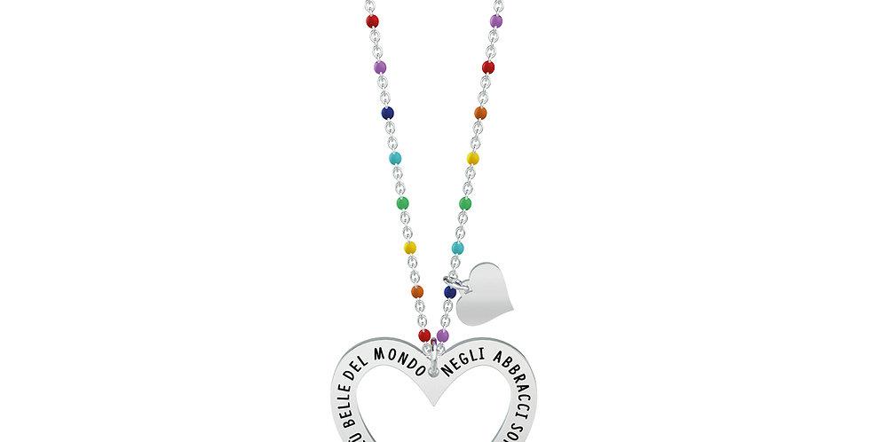 KIDULT collana  751013 LOVE cuore - abbracci