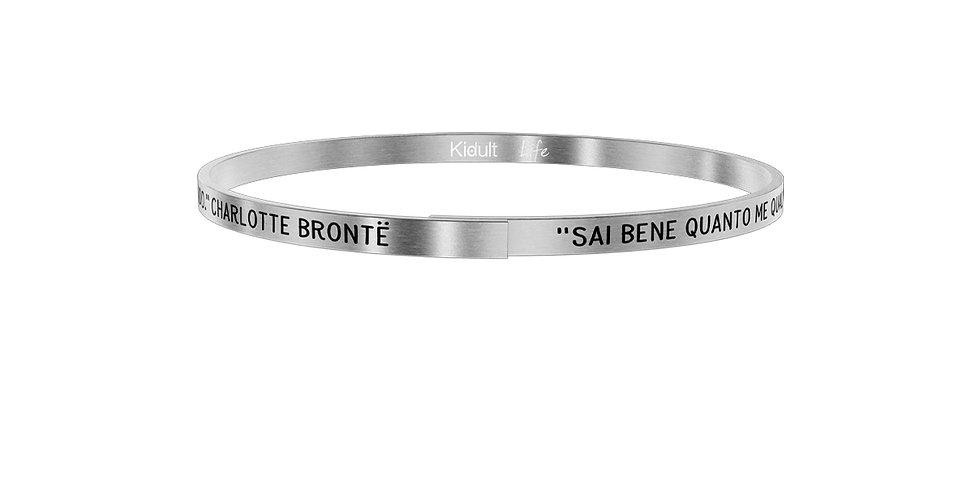 "KIDULT bracciale FAMILY 731881 CHARLOTTE BRONTE ""sai bene quanto me......"