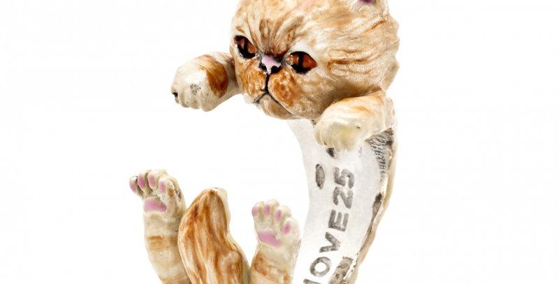 CAT FEVER Anello Hug L'anello Hug smaltato classico in argento 925%   CFANESMATI