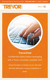 TrevorChat (for LGBTQ+ and questioning youth)