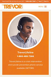 TrevorLifeline (for LGBTQ+ and questioning youth)