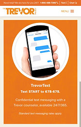TrevorText (for LGBTQ+ and questioning youth)
