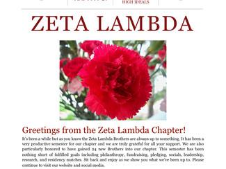 Zeta Lambda Spring 2019 Newsletter