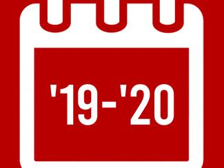 2019-2020 Important Dates