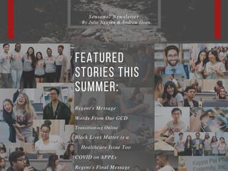 Delta Delta Summer 2020 Newsletter