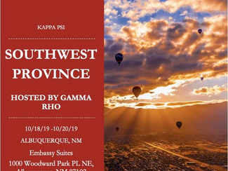 Southwest Province Fall 2019 Announcement