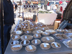 Pies at the market