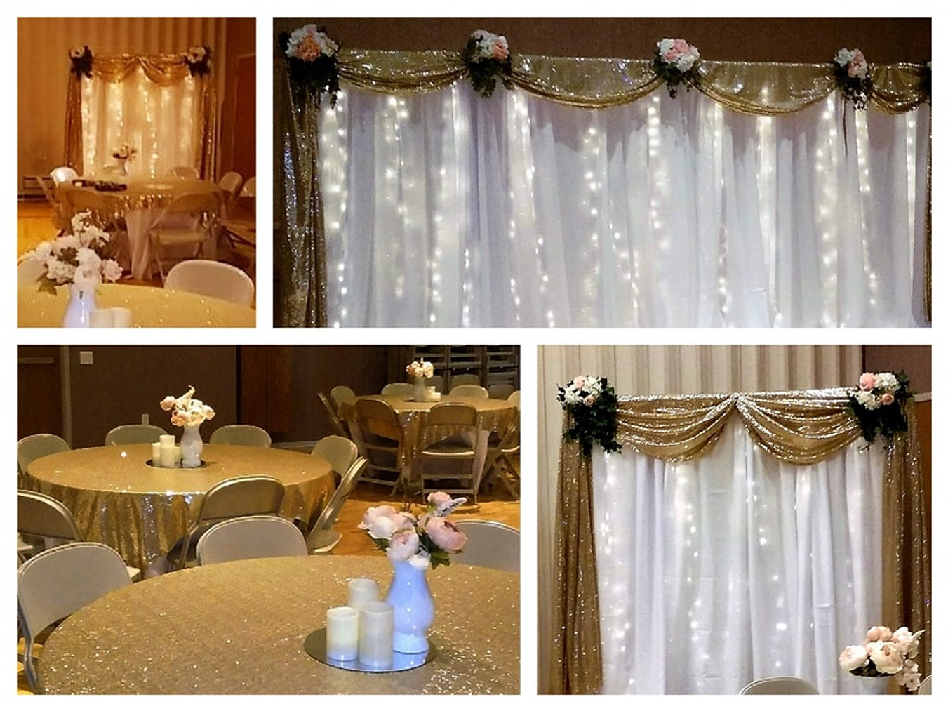 elegant sheer window treatments wedding rentals utah sheer elegance weddings for less inc